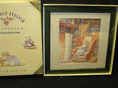 Brambly Hedge Living Pictures Decoupage Winter Scene Picture Framed Boxed New