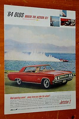 1964 Oldsmobile Jetstar Ii Coupe Where The Action Is Ad - / Vintage Retro 60S