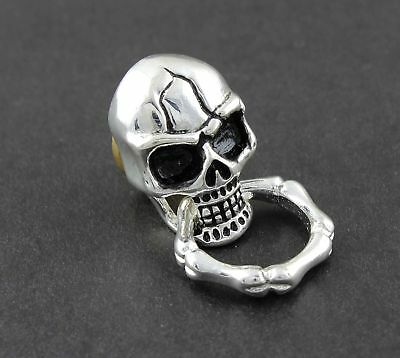 Cook Skull Screw-Eye of Steel Wallet Purse Chain Connector Biker Rock