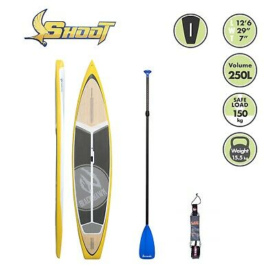 BLACKHAWK 12'6 SHOOT Down Wind Racing SUP STAND UP BOARD CARBON PADDLE ROPE