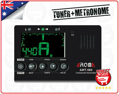 3in1 Tuner Metronome for Chromatic/Guitar/Bass/Violin/Ukulele Aroma AMT-560