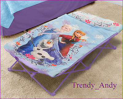 Disney Frozen Portable Travel Bed My Cot For Children's Kid's Folding Camp Home
