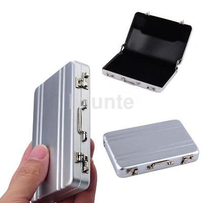Mini Aluminum Suitcase Briefcase Business Credit Bank Card Holder Box Case CA