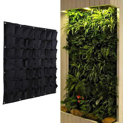 56 Pocket Hanging Vertical Garden Planter Indoor Outdoor Herb Pot Bag Decoration