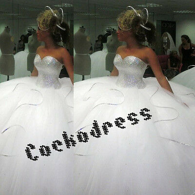 Sparkly Silver Sequined Ball Gown Wedding Dresses Custom Bridal Gown 4 6 8 10 ++