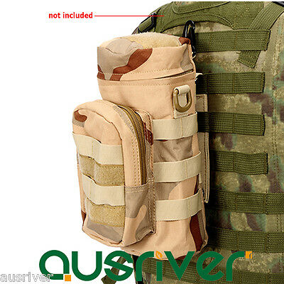 Outdoor Molle Military Tactical Water Bottle Kettle Holder Bag Pouch Accessory