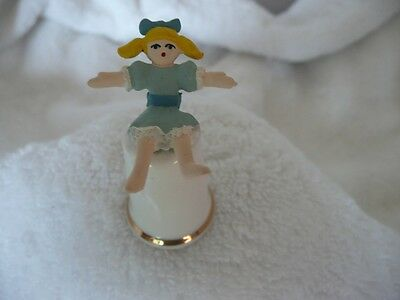 Collectable Sterling Classic English Bone China Thimble Rag Doll New