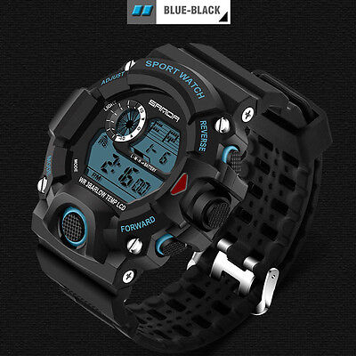 Chic Sports LED Day Date Alarm Stainless Steel Men's Military Army Quartz Watch