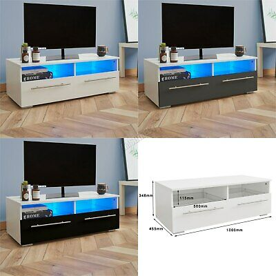 Westwood Modern LED TV Unit Stand Cabinet – High Gloss Doors Matte Cabinet TVC04