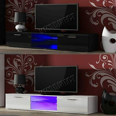 Westwood Modern LED TV Unit Stand Cabinet – High Gloss Doors Matte Cabinet TVC05