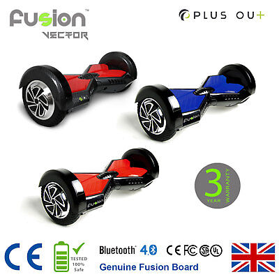 """Original 8"""" Fusion Electric Scooter Hover Board Self Balance Swegway Bluetooth"""