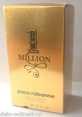 1 Million Paco Rabanne Eau de Toilette 50 ml  EdT Super Preis!