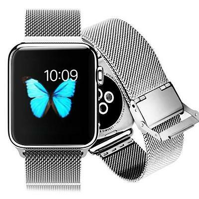 iProtect Apple Watch 42mm Edelstahl Uhrenarmband inkl. Schraubenzieher in Silber