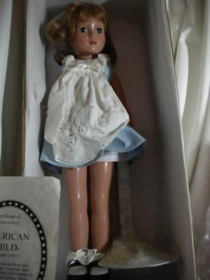 """Effanbee, American Child,USPS Stamp Doll, 1990's,Mint,AO,Extra Clothes,Tag,18"""""""