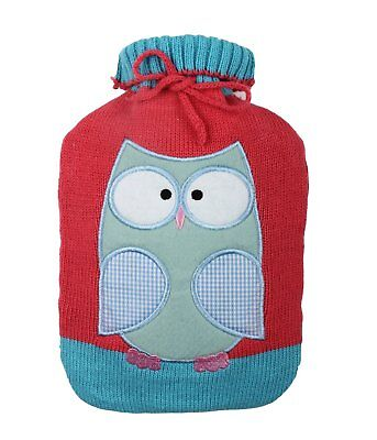 Hot Water Bottle COVER Knit Soft Cute Kids Gift Warm Heat Hot Relaxing Bag Only