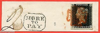 """SG. 2. A1 (2). AS46. """" NG """". 1d black. Plate 8. A fine used example."""