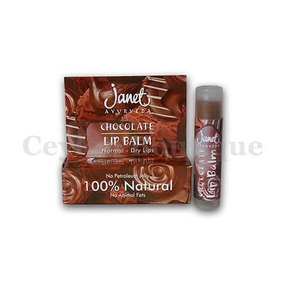 100% Natural Janet Chocolate Lip Balm - Ayurveda For All Skin Types
