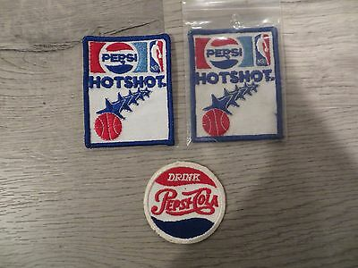 LOT OF 3 Vintage patches PEPSI patch HOTSHOT drink FREE SHIP retro advertisement