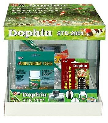 Dophin Garnelen Aquarium Nano Aquarium Set 10 Liter incl. Pumpe, Abdeckung etc.