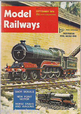 Model Railways Magazine Sept 1976 S&DR Signals,Horse Drays & Wagons,Point Motor