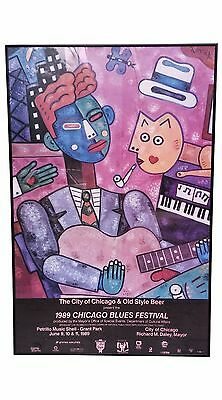 Chicago Blues Festival, Grant Park 1989 - Framed Pop Art Poster