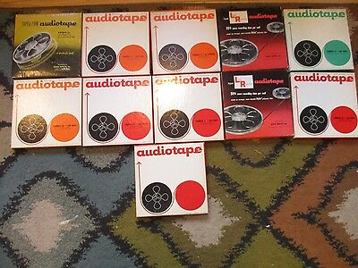 """Lot of 11 Audiotape 7""""  USED RECORDING REEL TAPES EX CONDITION"""