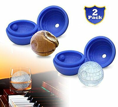 2 Pack Star Wars Silicone Ice Ball Molds Death Star Ice Cube Tray Perfect Gift