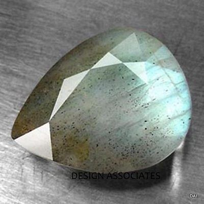 Labradorite 14X10 Mm Pear Faceted Gemstone Rainbow Color Aaa