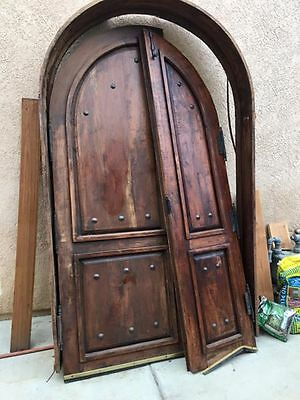 Old Rustic Arched Double Entry Door from Spanish Mission Wrought Iron 8X5