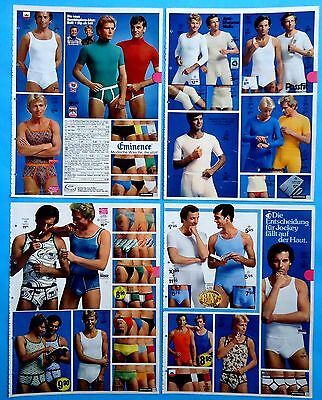 Men's Underwear Pajamas Catalog Clippings 11  pages Ad print from  1976 - 1977