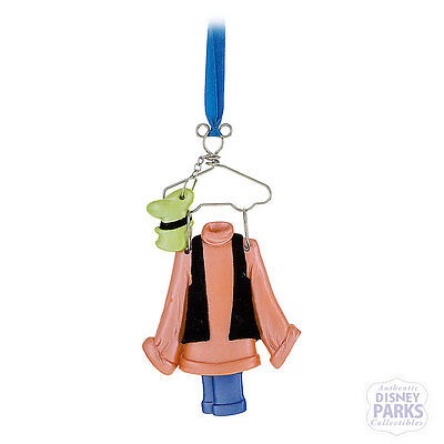 Disney Parks Goofy Costume on Hanger Christmas Ornament Outfit