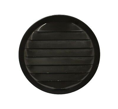 """Aluminum Vent Round 6"""" Black with screen Sheds Playhouse Chicken Coops treehouse"""