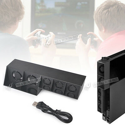 USB External Temperature Control Cooler With 5 Super Cooling Fan For SONY PS4