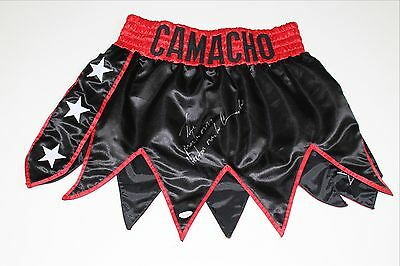 Hector The Macho Man Camacho Signed Boxing Trunks Jsa Authenticated