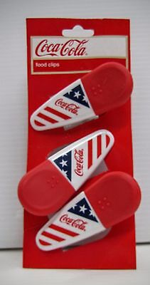 Coca-Cola American Flag Magnetic Clips - BRAND NEW!