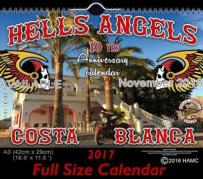 039 Hells Angels Support 81 Calendar 10 year Anniversary Limited Edition 2017