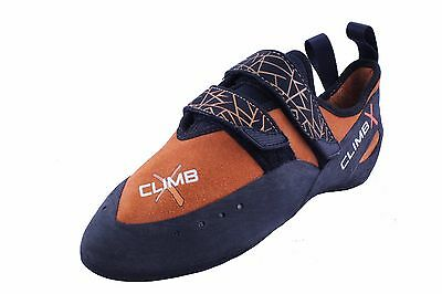Climb X Rave Velcro Strap Leather Rock Climbing Shoe US Mens 5
