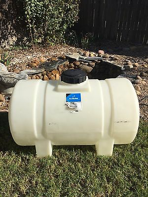 Ace Roto-Mold Free Standing No Sump 35 Gallon Water Tank~White~EUC~Industrial
