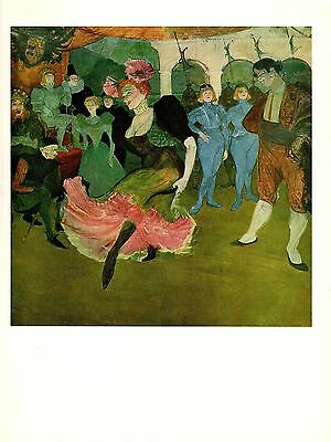 """1956 Vintage TOULOUSE /""""A BOX AT THE THEATER/"""" AUDIENCE COLOR offset Lithograph"""