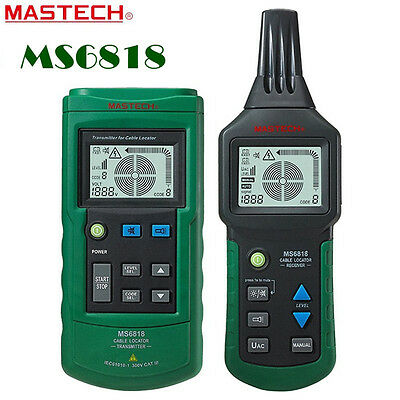 MASTECH MS6818 Wire Pipe Line Tracker Cable Locator 125KHz AC DC 12~400V LCD
