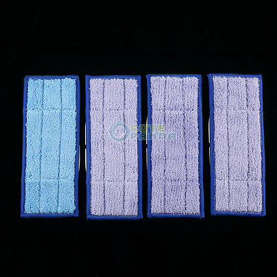 4Pcs Washable Wet & Dry Mopping Pads Replacment Damp for iRobot Braava Jet 240