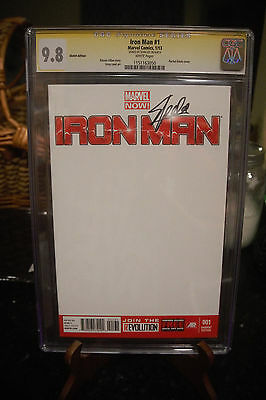 CGC 9.8 SS Stan Lee Iron Man #1 Blank Variant Cover Marvel Now! Comics
