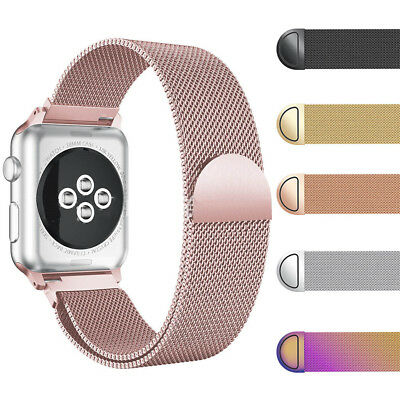 Milanese Magnetic Loop Stainless Steel Watch Band Strap For Apple iWatch 4/3/2/1