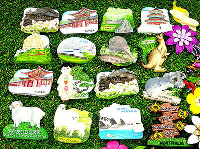 Travel Around world Asia Australia Fridge Magnet Souvenir Tourist Gifts IT