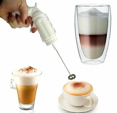 Gun Whisk Coffee Latte Milk Frother Hot Chocolate Frothy Cappuccino Blend Cakes