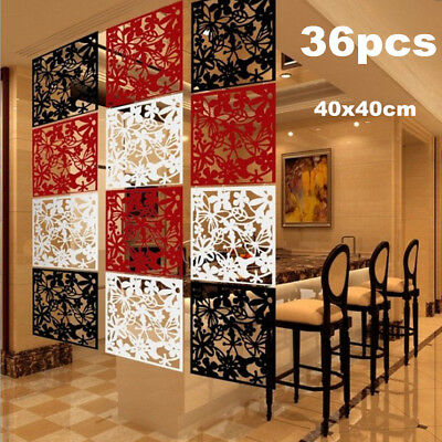 36 PCS DIY Folding Screen Room Divider Hanging Screens Comfortable Wall Panels