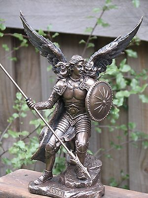 Archangel Raphael, Veronese Collection, 23cm Bronzed Statue ~ Omni New Age