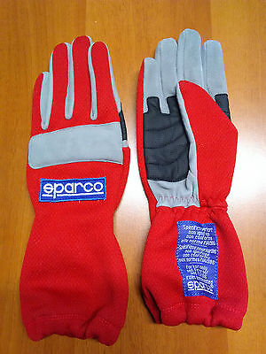 Guanti Kart Sparco Superkart  Tg 7 Red Gloves Karting Handschuhe Size 7 Children