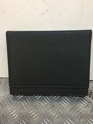 Audi A4 Owners Manual Book Leather Cover Only Black