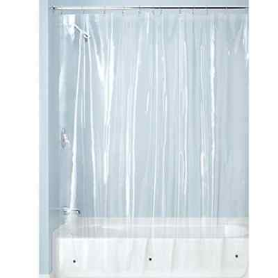 Weighted Shower Curtain Liner Odourless Mold Mildew Resistant MPVC-Free PEVA